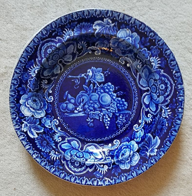Staffordshire Soup Dish Birds and Fruit Pattern c1820