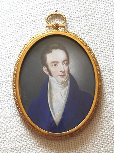 Signed Miniature Portrait c1825