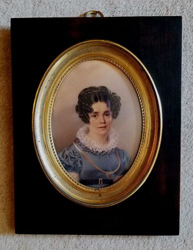 Paul Gomien Miniature Portrait c1822