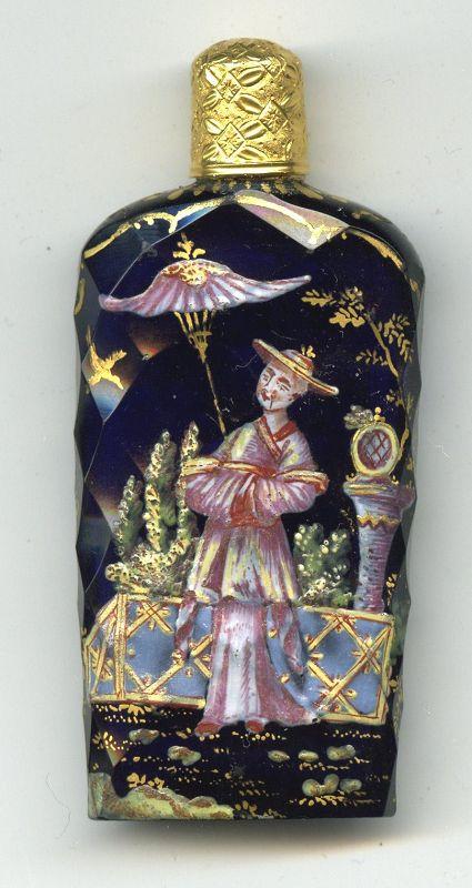 Important James Giles Glass Scent Bottle c1765