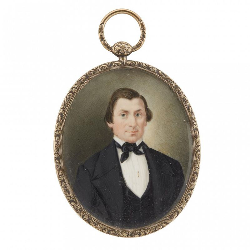 Christopher Greiner Portrait Miniature c1843