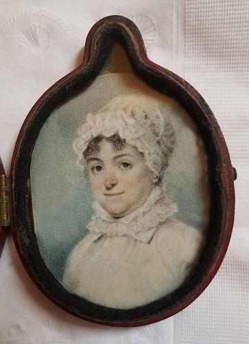 John Wesley Jarvis Miniature Portrait c1810