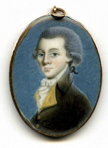 A Superb Pierre Henri Portrait Miniature c1790
