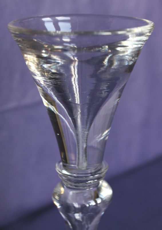 Toastmasters Deceptive Baluster Wine Glass c1730