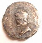 A Fine Shiebler Silver Medallion Brooch c1880