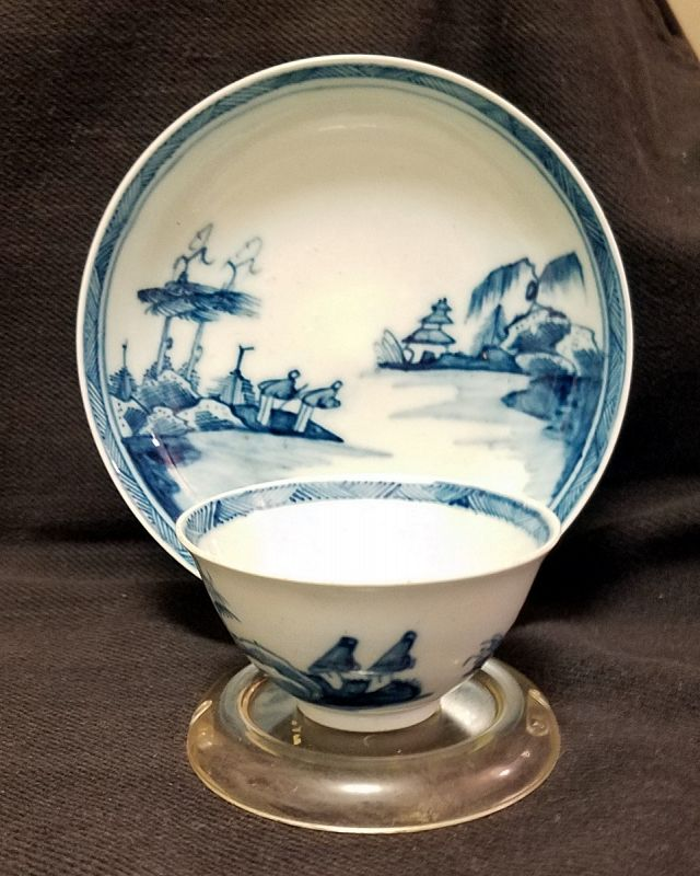 Exceptional Chaffers Porcelain Tea Bowl and Saucer c1758