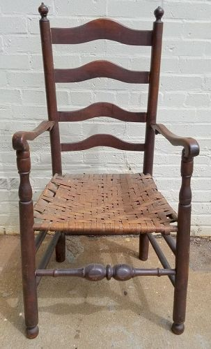 Delaware Valley Ladder Back Chair c1790