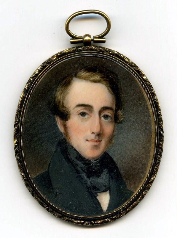 A Signed Thomas Barratt Portrait Miniature c1838