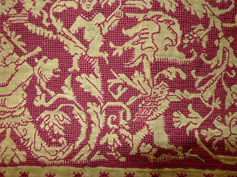 Early Italian Textile Exemplar Fragment 16th Century