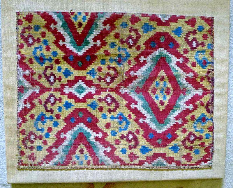 Uzbekistan Velvet Ikat Examplar 19th C