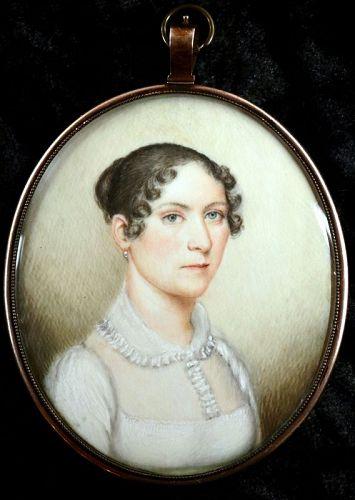 Henry Colton Shumway Portrait Miniature c1835