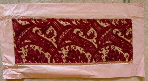 Italian Textile Example 17th Century