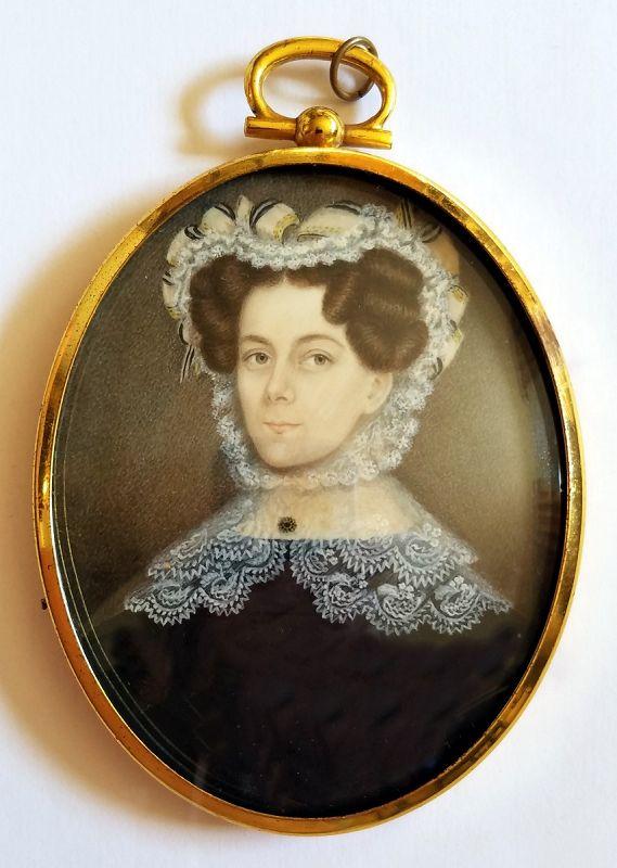 Portrait Miniature by Augustus Fuller c1835