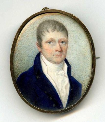 A Fine Miniature Portrait of a Gent c1830