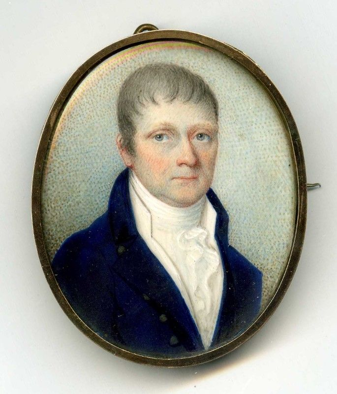 A Fine Miniature Portrait of a Gent c1830
