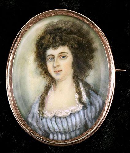 Portrait Miniature by Nathaniel Hancock c1791