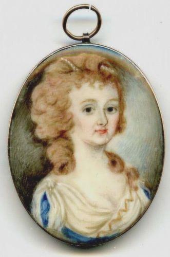 Miniature Portrait of Young Woman c1795