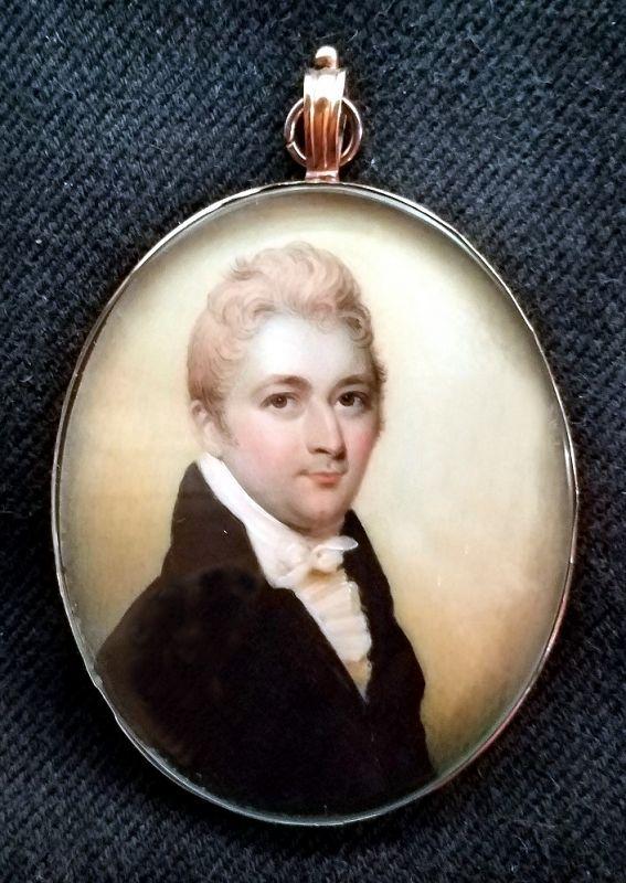 A Henry Jacob Burch Portrait Miniature c1800