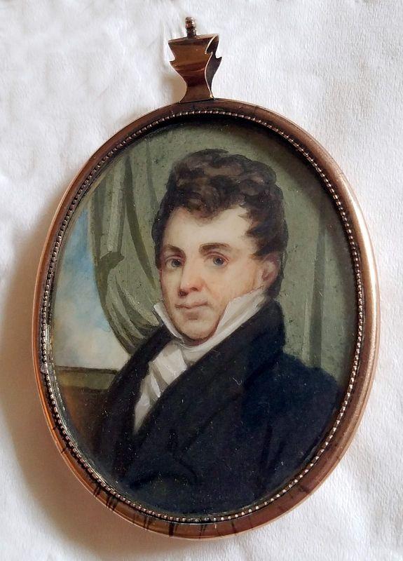 Rare J.V. Sturgeon Portrait Miniature  c1830