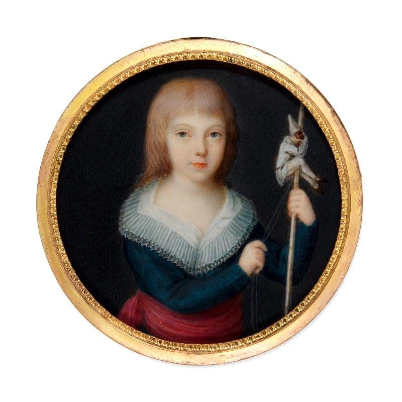 A Superb Miniature Portrait of a Child c1785
