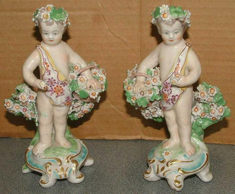 Fine Pair of Derby Flower Seller Figures c 1770