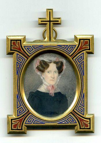 Striking Miniature Portrait c 1830