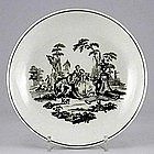"First Period Worcester Saucerdish, ""L'Amour""; c 1765"