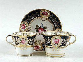 Beautiful Chamberlain Worcester Trio; c 1815