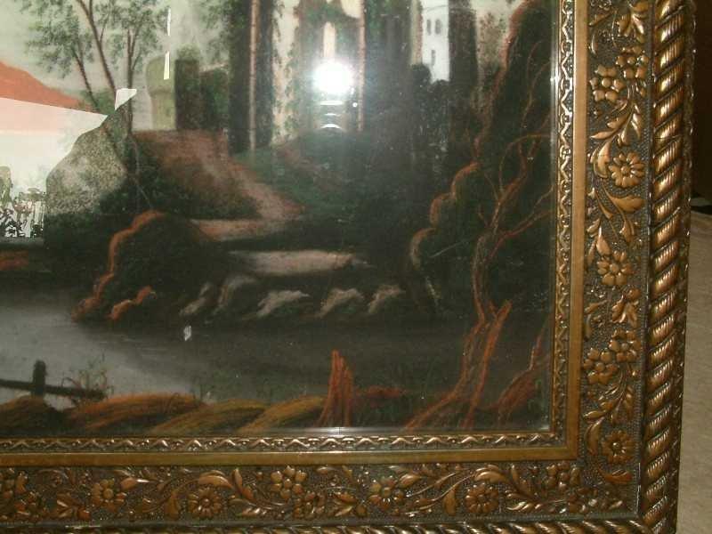 Pastel Color Sandpaper Painting  C 1850