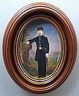 Watercolor of Civil War Officer at Encampment  c1865