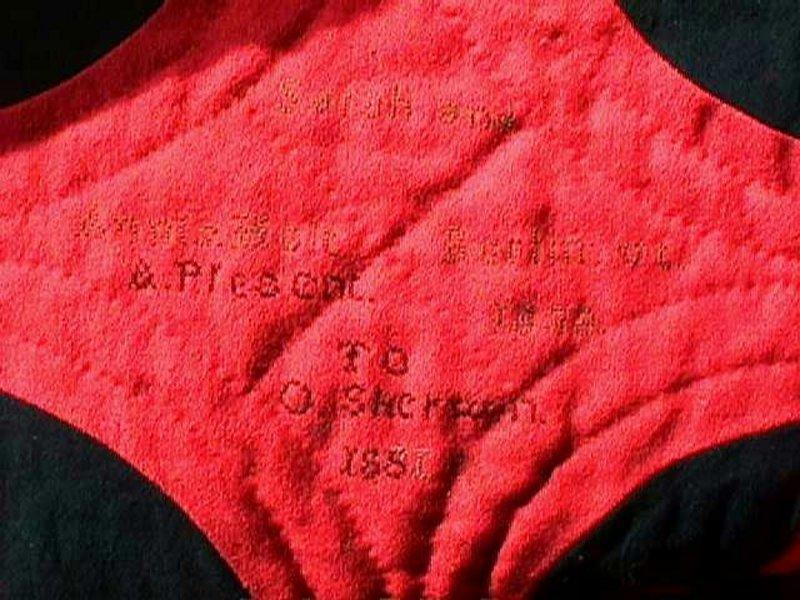 Rare Documented VT Quilt; C 1838