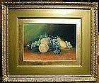 Folky William Chandler Still Life of Fruit  C 1880