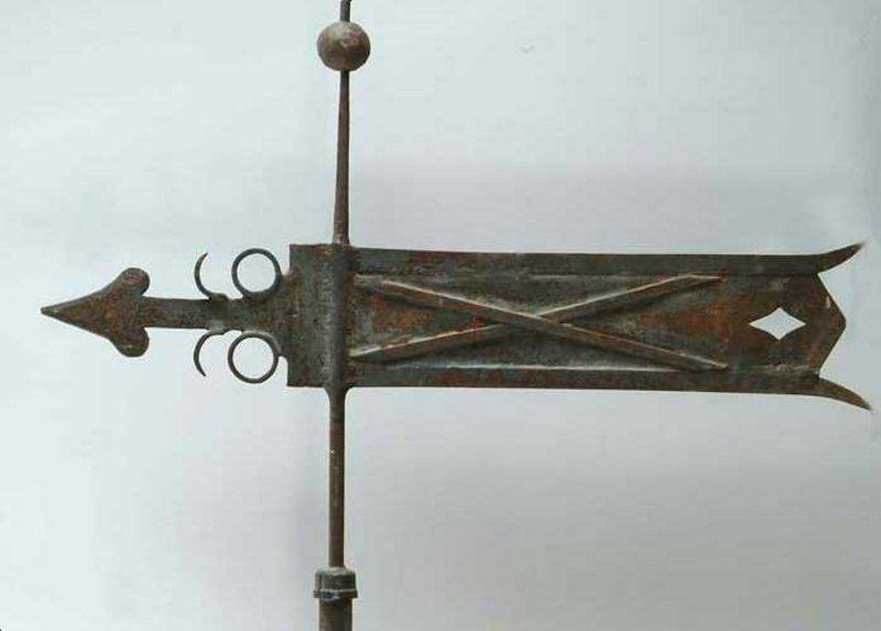 Superb Documented Banneret Weathervane; 19th C