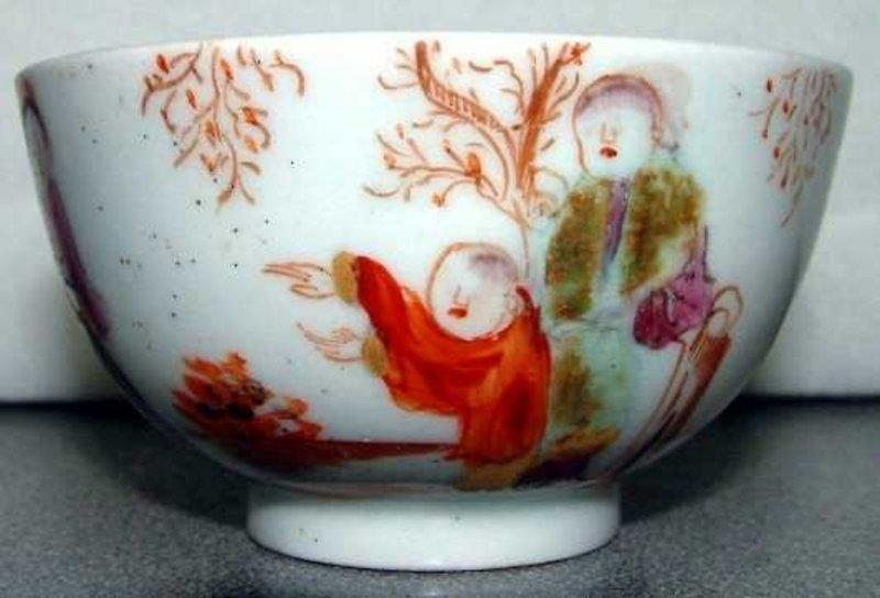 Fine English Porcelain Lowestoft Tea Bowl; C 1775