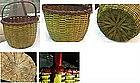 Vibrant and Superb Northeastern Splint Basket  C 1875