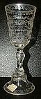 Large Engraved Glass Goblet; C 1876