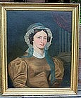 Folky Portrait of Young Woman c 1835
