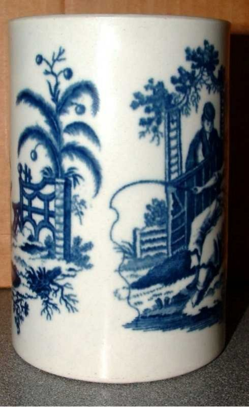 Dr. Wall First Period Worcester Tankard; c 1770