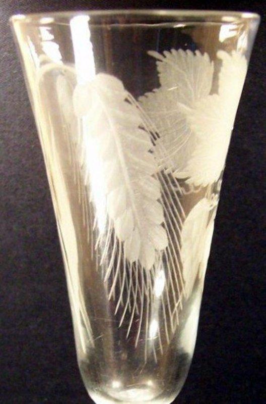 Large English MSAT Knopped Ale Glass; c 1755