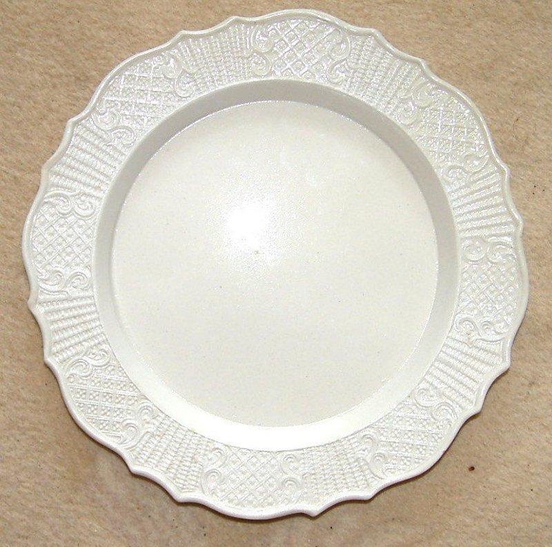 A Wonderful English Molded Saltglazed Plate; c 1760