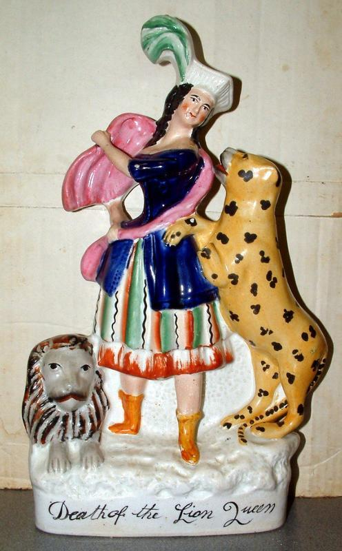 Death of the Lion Queen   Staffordshire Figure; c 1870
