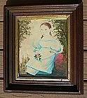 Superb Folk Portrait of Young Girl; c1835