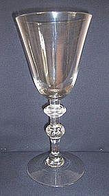Mammoth English Wine NLB Goblet  c 1750