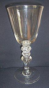 18th Century Glass Newcastle Light Baluster c 1750