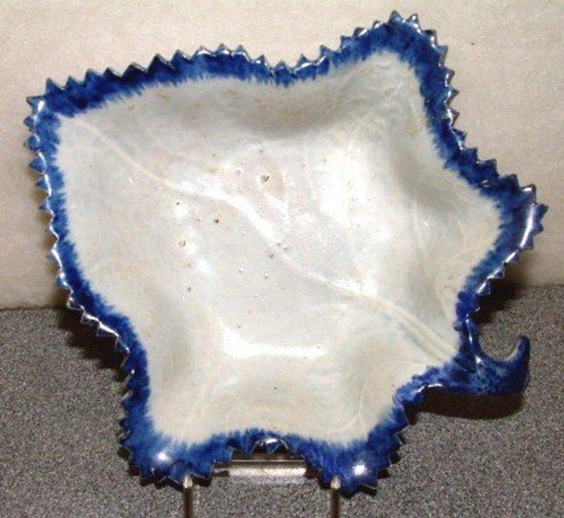 Feather Edge Pickle Leaf Dish c 1830
