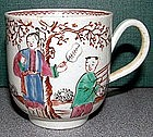 A Chaffers Coffee Can with Chinese Figures c 1765