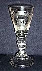 Superb German Lauenstein Engraved Baluster Glass c1740