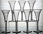 Rare English Air Twist Wine Glasses, Set of 6  c1755