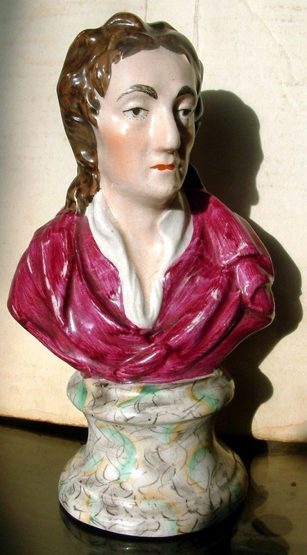 Staffordshire Bust Figure of Locke  c1830