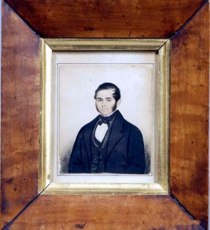 Henry Walton Small Watercolor Portrait   c1842